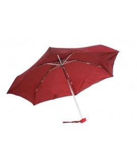 Paraguas plegable de lluvia para bolso señora color rojo apertura automática regalo para día de la madre y amiga