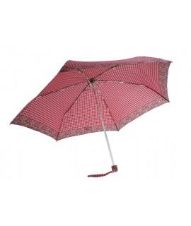 Paraguas plegable de lluvia para bolso señora color rojo y rosa apertura automática regalo para día de la madre y amiga