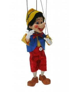 Marionnette artisanale Pinocchio peinte à la main