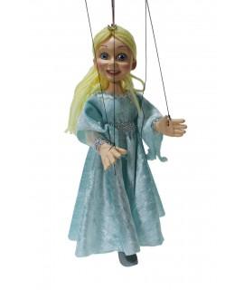 Marioneta de cuerda Princesa Cristina. Medidas: 32 cm.