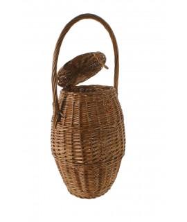 Caragolera artesanal de vímet amb nansa