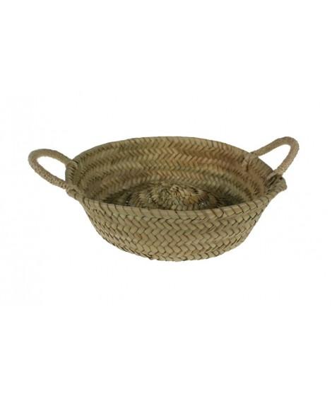 Panera artesanal de fibras naturales de hoja de palma
