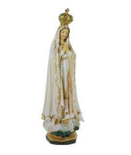 Figura religiosa Virgen de Fátima. Medidas: 21 cm.