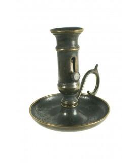 Bougeoir en laiton vieilli à profondeur réglable pour une bougie de 2 Ø cm. décor vintage rustique