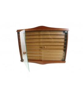 Porte-dé à coudre en bois de cèdre massif, vitrine murale de couleur noisette, décoration de la maison