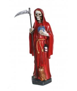Divinidad de la Santísima Muerte color rojo