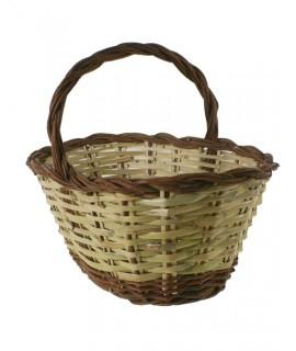 Cesta caña mimbre tradicional para setas cesta almacenamiento hogar