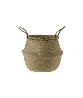 Cesta de hoja de palma para cubremacetas cesta almacenamiento cesta para plantas decoración hogar