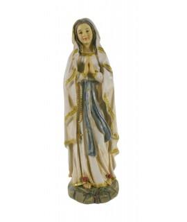 Estatua Nuestra Señora de Lourdes con manto claro