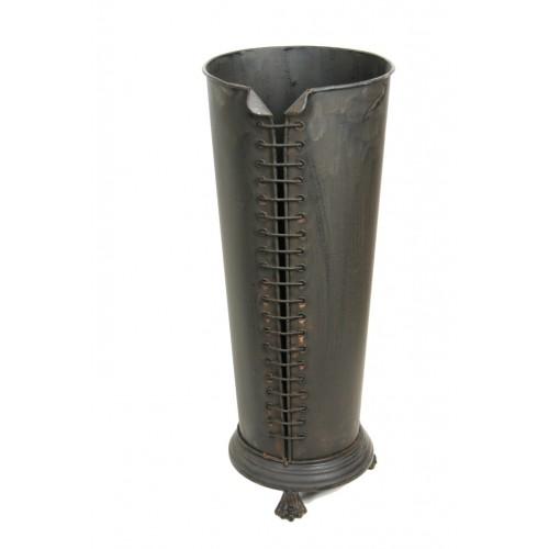 Paragüero de chapa color gris oscuro forma bota