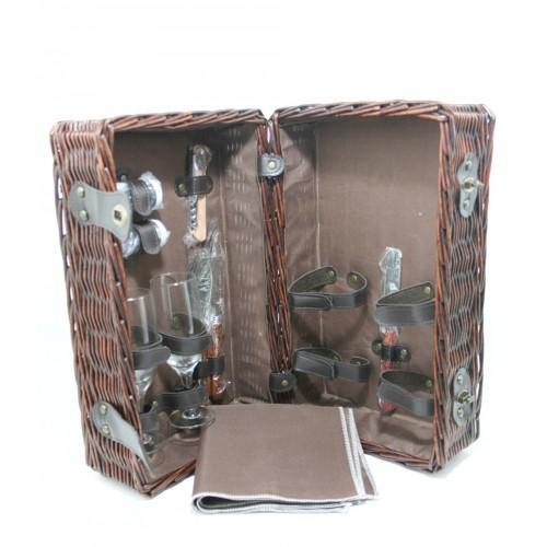 minbre panier pique nique avec des ustensiles de cadeau. Black Bedroom Furniture Sets. Home Design Ideas