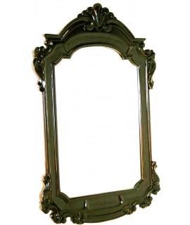 Miroir en bois d'acajou sculpté de style vintage
