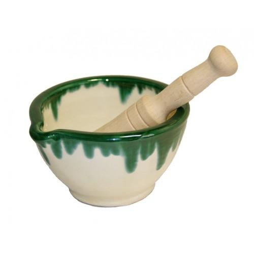 Mortero de cocina de cerámica de arcilla para salsas utensilio de cocina fabricación artesanal