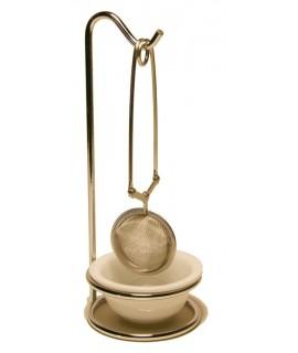 Pinza Infusiones para difusor de té con soporte. Medidas: 20x8x8 cm.