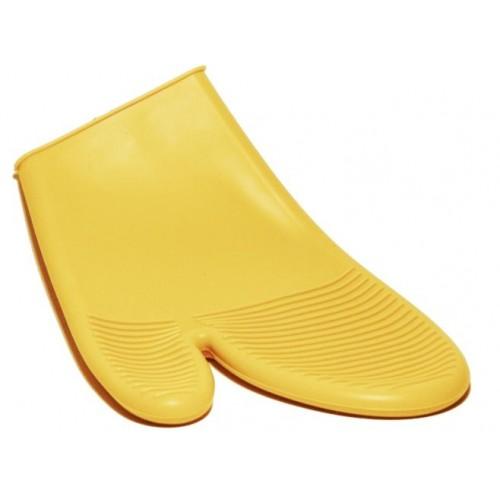 Manopla de silicona color amarillo para utensilio de cocina