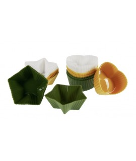 Juego de 12 moldes pequeños de silicona para magdalenas