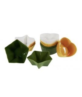 Joc de 12 motlles petits de silicona per magdalenes