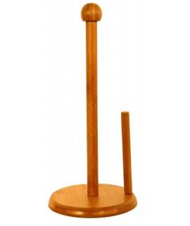 Porta-rotlles de paper cuina en fusta de bambú