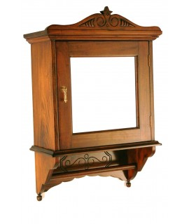 Miroir en bois avec garde-robe et le cintre