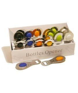 Abridor botellas en metal inox, de colores surtidos