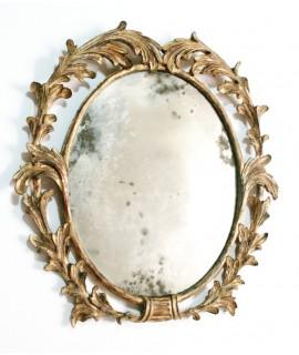 Main miroir en bois massif sculpté collection CHRISTOPHER GUY. Dimensions: 50x47 cm.