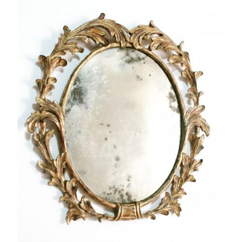 Espejo de madera maciza  tallada a mano colección CHRISTOPHER GUY. Medidas: 50x47 cm.
