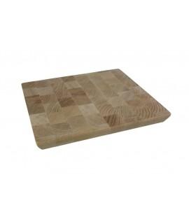 Tabla de corte madera de haya en testa