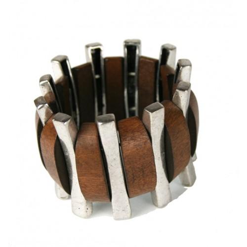 Bracelet bois et Metall