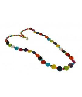 Collaret de Fusta Multicolor