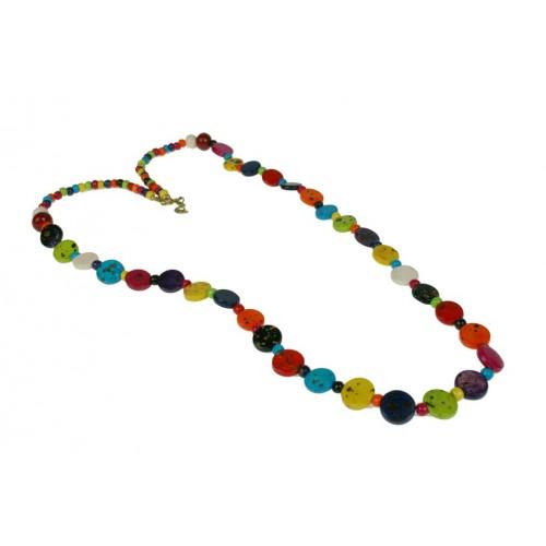 Collar de Madera Multicolor