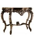 Consola estilo Isabelina de madera maciza de caoba tallada