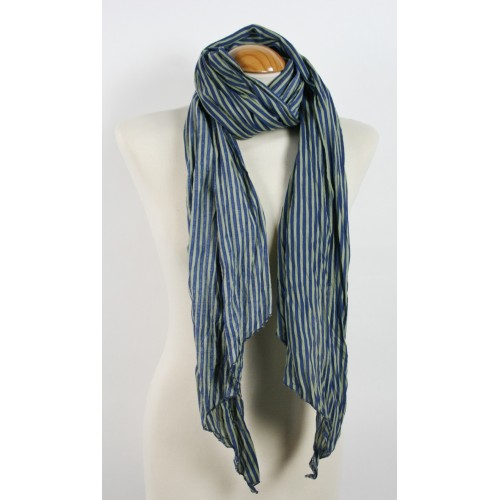 Foulard Rayas color Azul/Gris