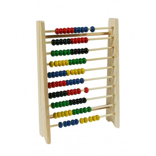 Abacus en bois coloré à dix rangées pour effectuer des mathématiques