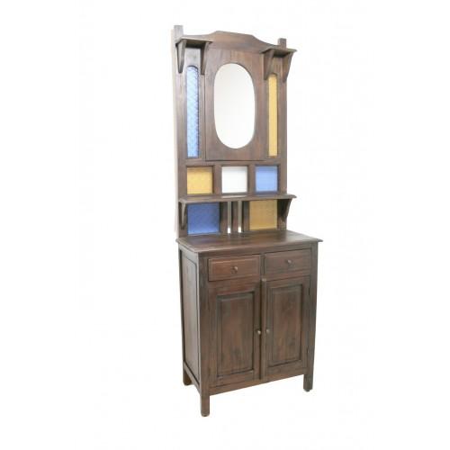 Mueble recibidor r stico color nogal decoraci n rustico - Mueble recibidor rustico ...