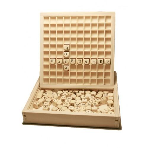 Caja De Madera De 145 Dados De Letras Para Formar Palabras Original