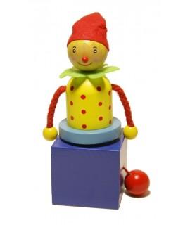 Carrousel Clown en bois jouet traditionnel pour enfant