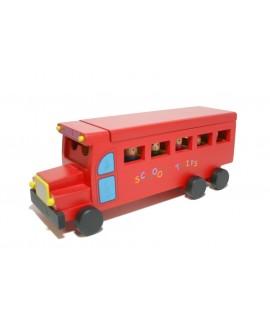 Autobús de Madera color Rojo