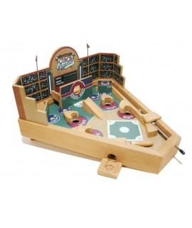 Flipper Baseball en bois décoré. Mesures: 21x34x21 cm.