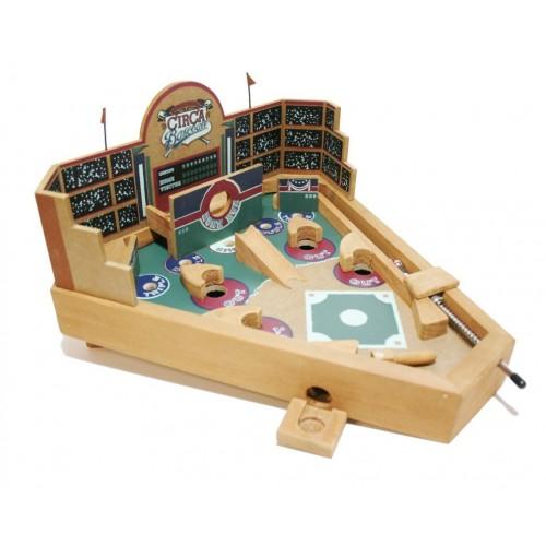 Pinball Béisbol de madera decorada. Medidas: 21x34x21 cm.