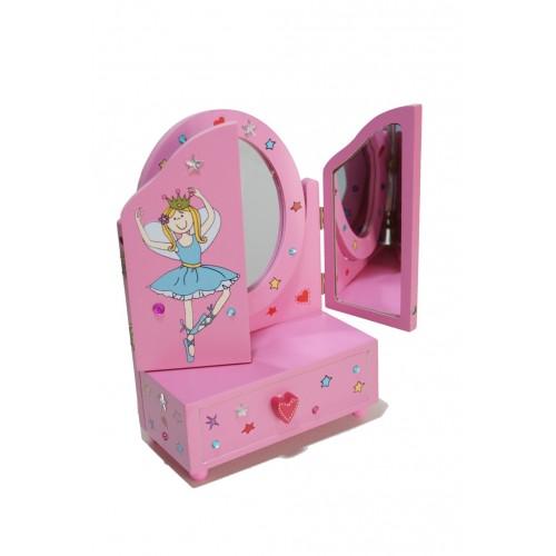Tocador rosa per nines de fusta tradicional joguina - Tocador infantil ...