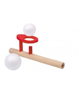 Juego de madera pelota flotante. Medidas: 15x5 cm.