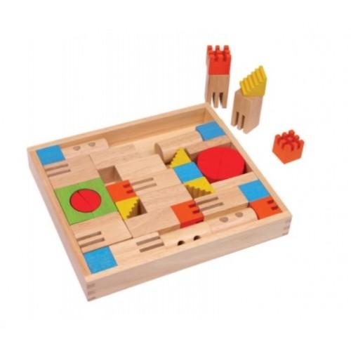 Caja construcción de madera para desarrollar la creatividad infantil