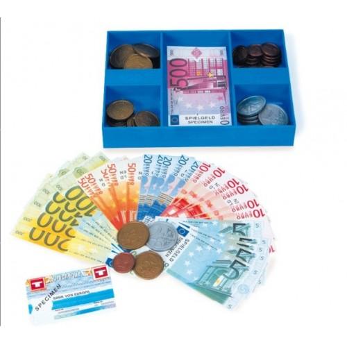 Caja con dinero de juego