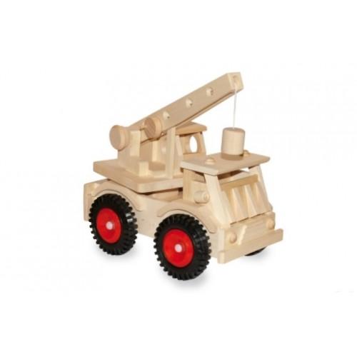 Camion grúa de madera