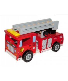 Camión bomberos de madera y complementos