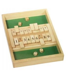 Joc de matemàtiques, Tanca la caixa. Mesures: 35x24 cm.