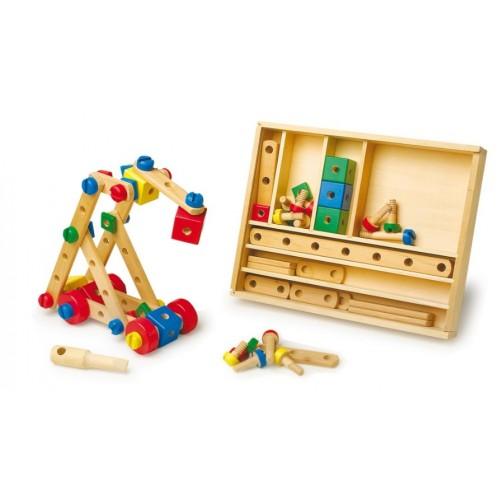 Set de construcción de madera