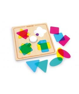 Jeu adapté aux formes et aux couleurs pour la motricité des enfants