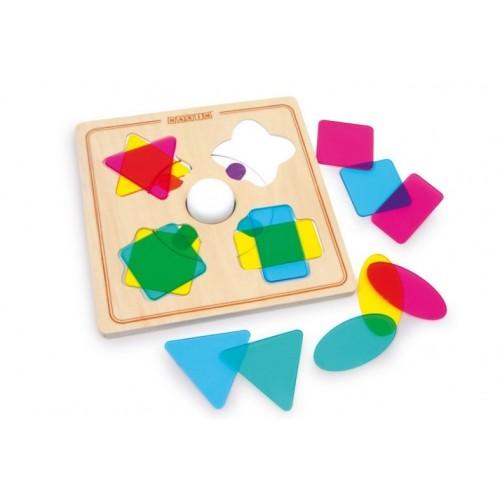 Juego para encajar Formas y Colores para motricidad infantil.