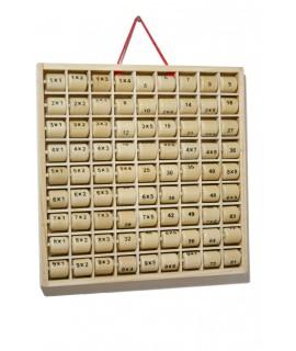 Tabla de madera para multiplicar juego tradicional